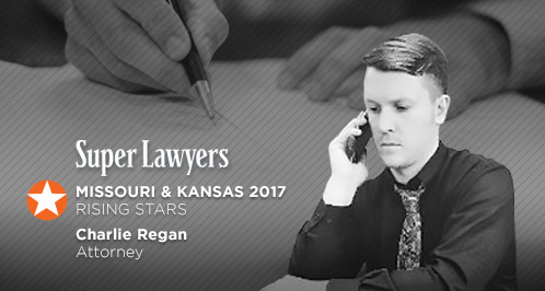 Attorney Charlie Regan Named A Super Lawyers Rising Star in 2017 For Kansas And Missouri