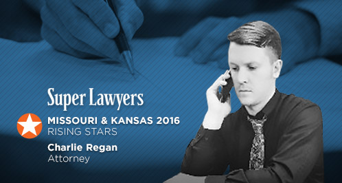 Charlie Regan Selected A Super Lawyers Rising Star 2016 For Kansas And Missouri