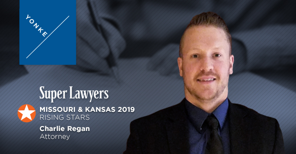 Attorney Charlie Regan Named A Super Lawyers Rising Star In 2019 For Kansas and Missouri